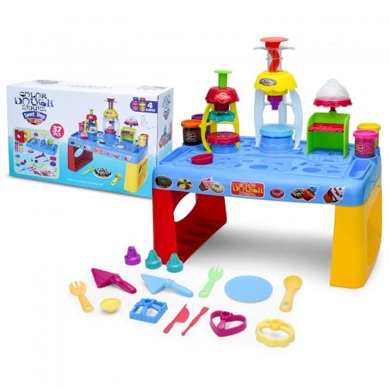 طاولة لعبة الملتينة الملونة المسلية للأطفال