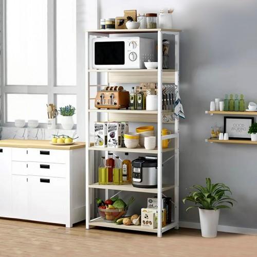 خزانة للمطبخ تحتوي على رفوف متعددة الاستخدامات zd-17