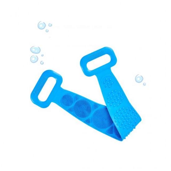 ليفة استحمام مصنوعة من السيليكون تحتوي على مقبض لليد