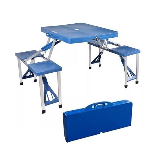 طاولة رحلات مع 4 مقاعد يمكن طويها وحملها كشنطة