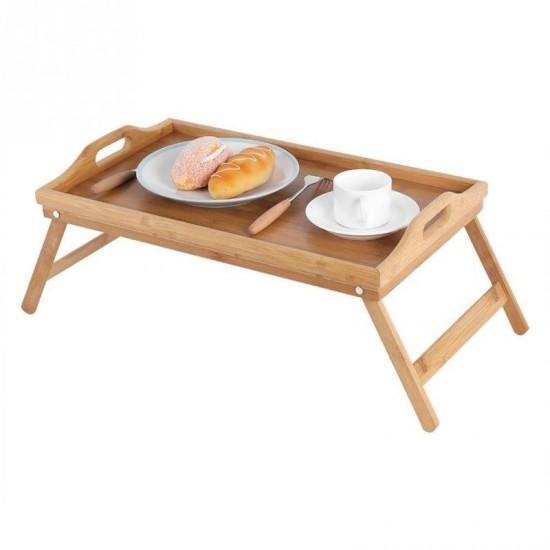 طاولة طعام خشبية للسرير قابلة للطي