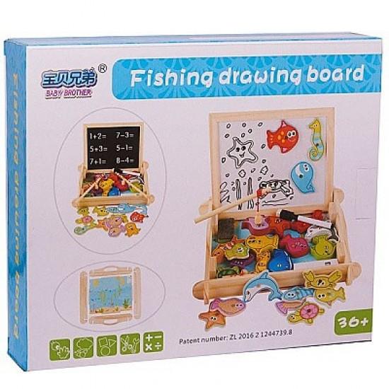لوح الالعاب والاشكال مع لعبة صيد سمك
