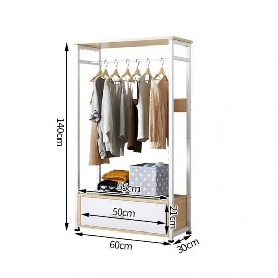 خزانة تعليق ملابس بهيكل معدني ودرج BD-1