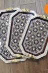 طقم صواني موزاييك سوري صنع يدوي