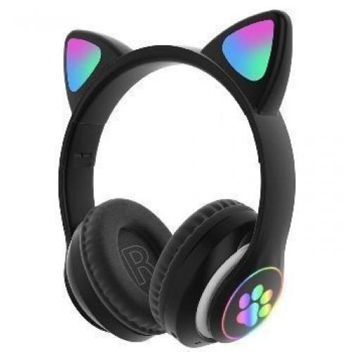 سماعة بلوتوث على شكل قطة مع اضاءة و بعدة ألوان
