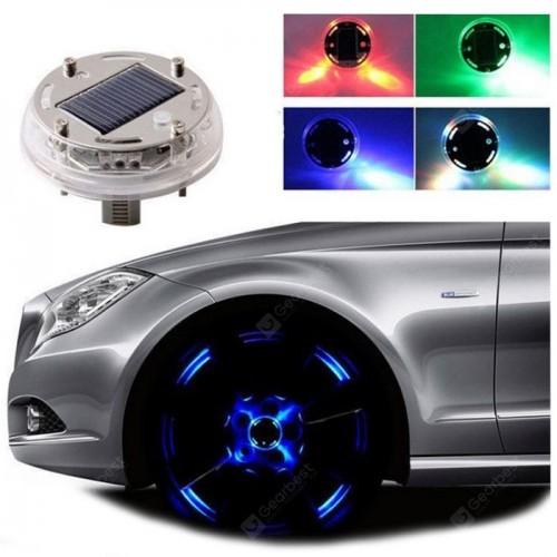 طقم اضاءة لعجلات السيارة تعمل على الطاقة الشمسية (4 قطع )