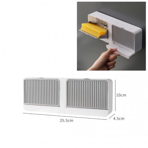 صندوق بلاستيكي لحفظ الصابون أو ملحقات الحمام