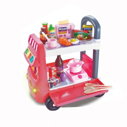 لعبة عربة المطبخ للأطفال
