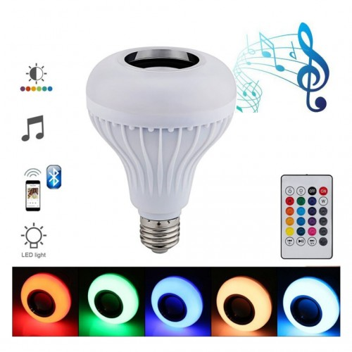 مصباح اضاءة مع سماعه بلوتوث Bluetooth music bulb Led