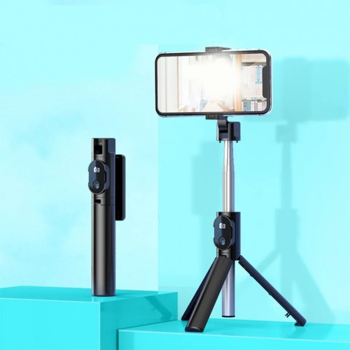 ستاند للهاتف مع عصا سيلفي تصوير لاسلكية قابلة للطي 2*1
