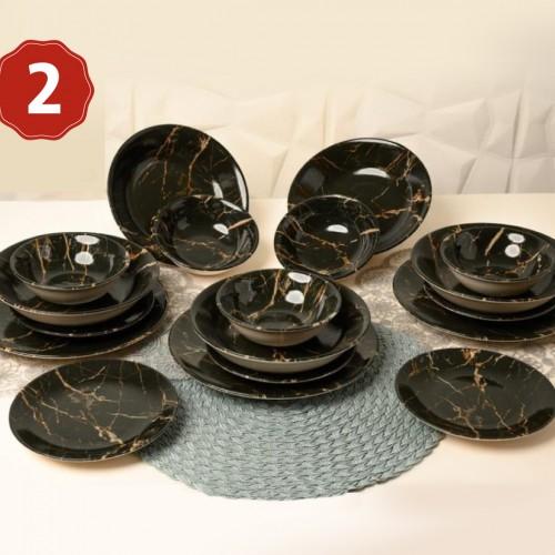 طقم صحون تركي مكون من 24 قطعة باحجام مختلفة