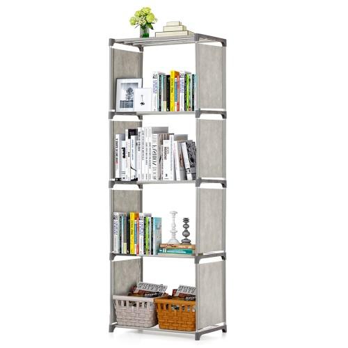 خزانة للكتب والتحف مكون من خمس طبقات
