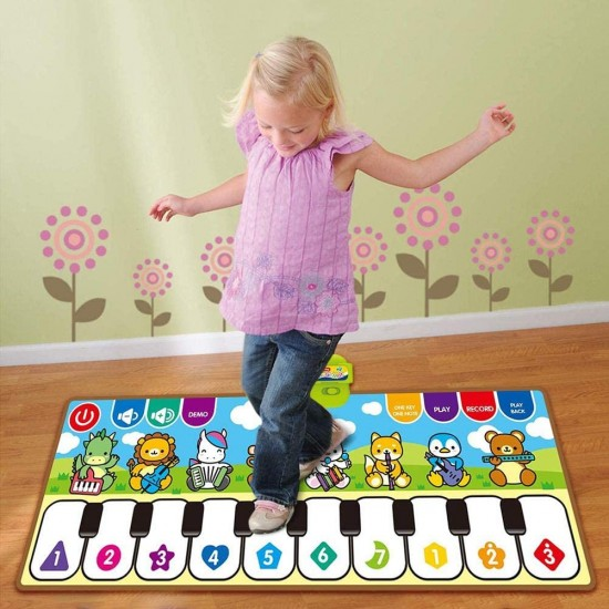 سجادة أطفال على شكل بيانو تعمل على اللمس مع مؤثرات صوتية