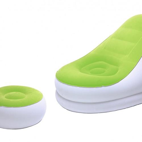 مقعد قابل للنفخ مع قطعة للارجل سهل الاستخدام موديل 964-3