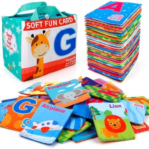 بطاقات تعليمية للاطفال مصنوعة من قماش