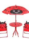 طاولة اطفال مع شمسية وكرسيين موديل 100-6