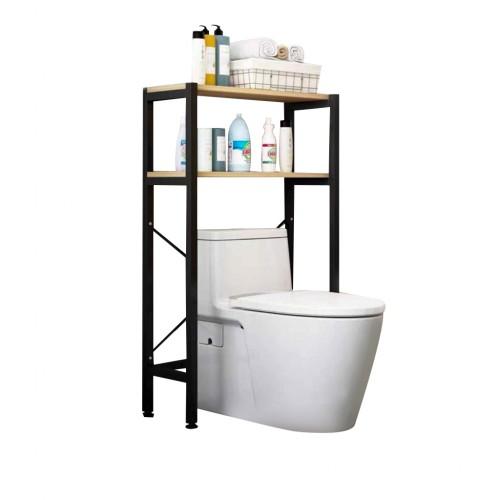 رفوف تنظيمية للحمام يتم وضعها فوق كرسي الحمام موديل 854-14