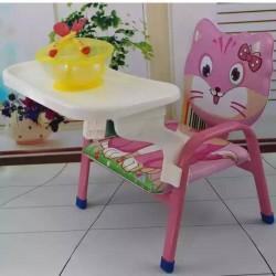 كرسي طعام للأطفال بأشكال كرتونية يمكن تحويله لكرسي عادي
