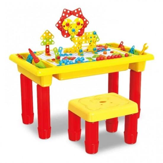 لعبة الدريل مع طاولة وكرسي للاطفال