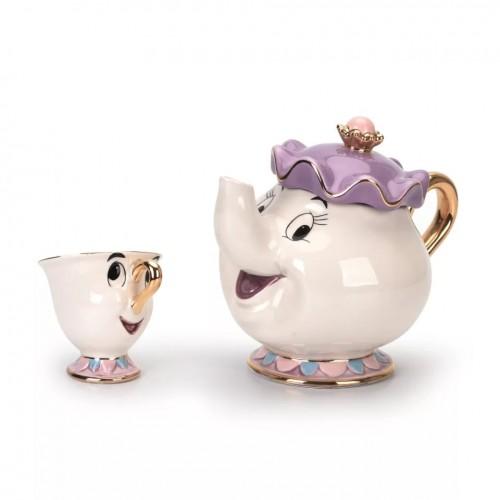 طقم شاي بورسلان برسومات كرتونية ماركة Disney الأصلية