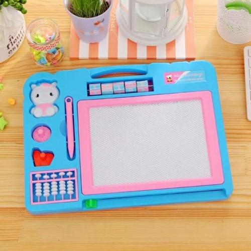 لوح للكتابة او الرسم مزدوج للاطفال