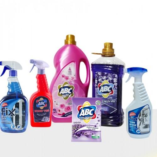 مجموعة  التنظيف المنزلية مكونة من 6 قطع