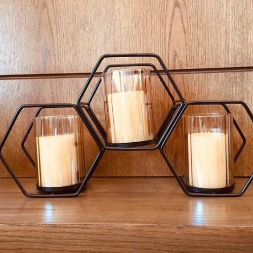 شمعدان مكون من 3 قطع