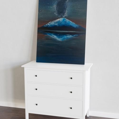 """"""" الجبل الجليدي """" لوحه فنية جدارية لديكور المنزل مرسومة يدويا بالوان الاكريليك على لوحة كانفاس"""