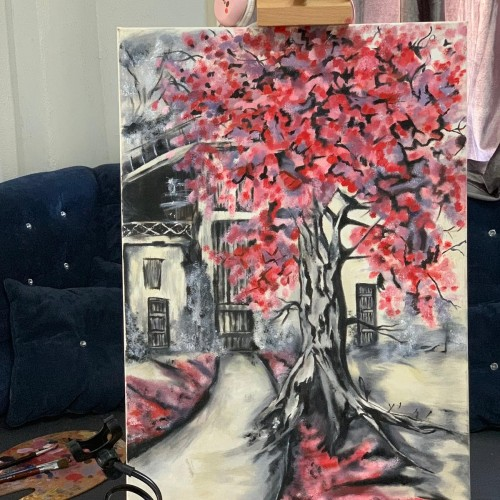 لوحة فنية بألوان مميزة
