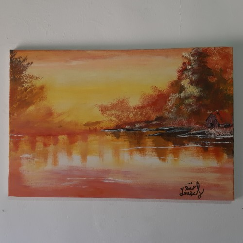 لوحة فنية بأللوان الزيت