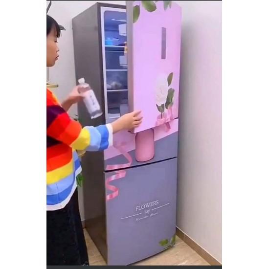 ستيكر ثلاجة باللون الزهري