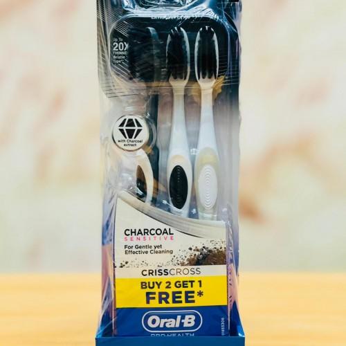 مجموعة فراشي اسنان مكونه من تلت قطع