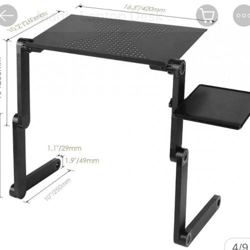 طاولة كمبيوتر قالبة للطوي مع مروحة لتبريد الكمبيوتر
